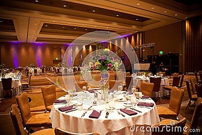 Tables at wedding reception