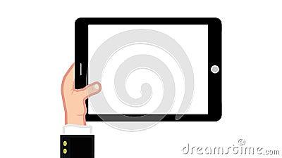 Tablet alles Gestual mit Alpha - GESCHÄFTSMANN vektor abbildung