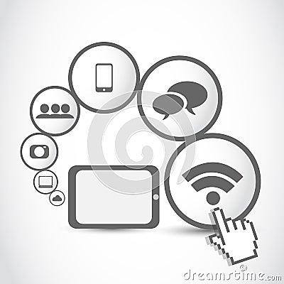 Tablet computer applications concept