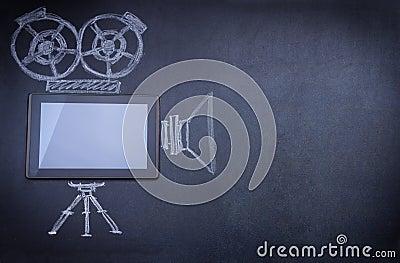 Tablet computer as movie camera
