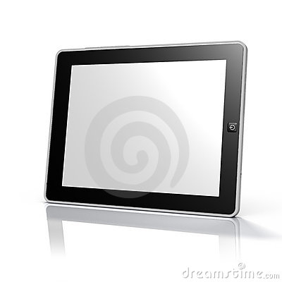 Free Tablet Computer / Ebook Reader (Clipping Path) Stock Images - 13391374