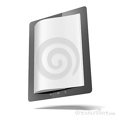 Tablet computer with pages