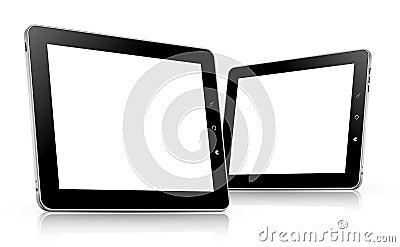 Tablet computer set. vector illustration