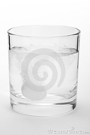 Tablet in a glass of water path