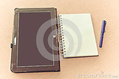 Tablet notebook and pen