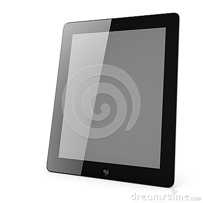 Tablet PC with blank screen isolated