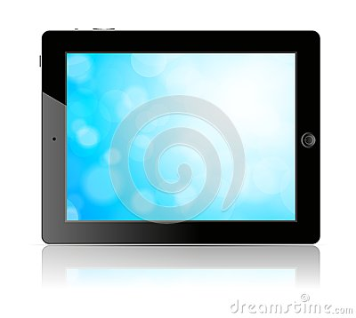 Tablet pc with blue screen
