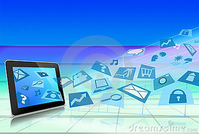 Tablet PC Computer with Application Icons