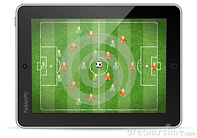 Tablet PC with Football Game