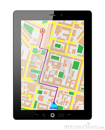 Tablet pc gps