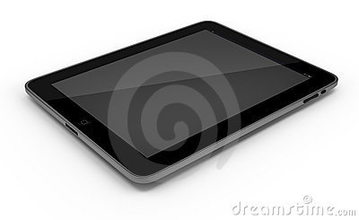 Tablet PC, iPad isolated on white background Editorial Stock Image