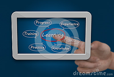 Tablet pc learning concept