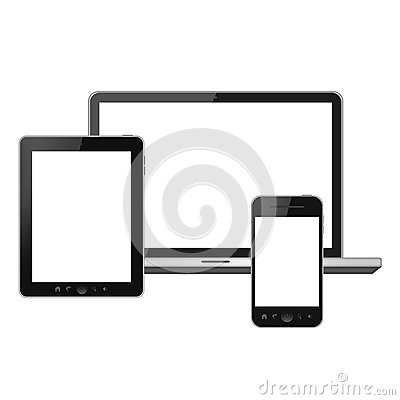 Tablet pc, mobile phone and laptop