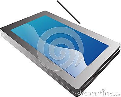 Tablet pc notebook illustration