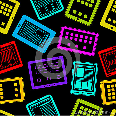 Tablet PC / Pad Vector Seamless Pattern