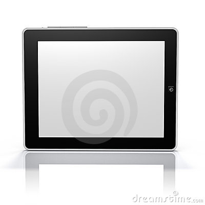 Free Tablet PC Screen Side (Clip Path Screen & Object) Royalty Free Stock Images - 13391349