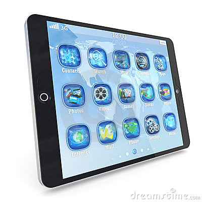 Tablet PC touchpad with 3d applications