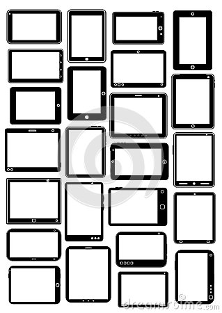 Tablet PC Vector Collection in Black
