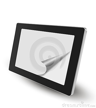 Tablet pc with white paper