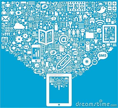 Tablet & Social Media icons