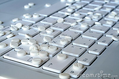 Tablets on the keyboard