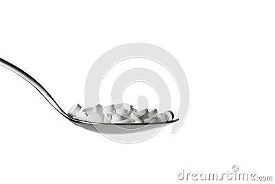 Tablets in spoon
