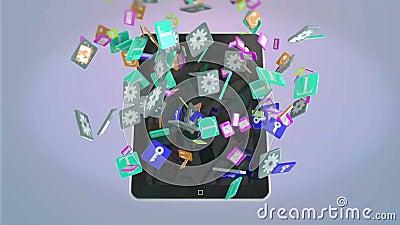 Tablette et apps illustration de vecteur
