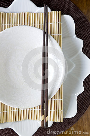 Free Tableware In Japanese Style Royalty Free Stock Photos - 34782688