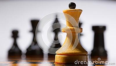 Tabuleiro de xadrez de madeira