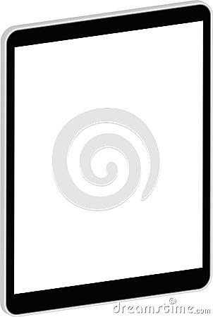 Tabuleta preta 3D do negócio similar ao iPad