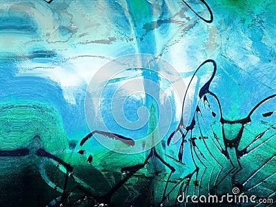 Tache grunge énervée de peinture