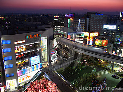 Tachikawa at twilight, Tokyo, Japan Editorial Photography