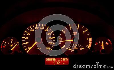 Tachometer of a car