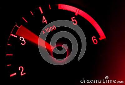 Tachometer dial