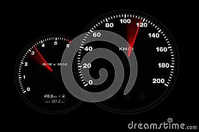 Tachometer gauge