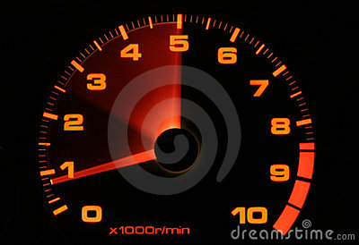 Tachometer revving up