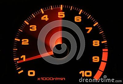 Tachometer revving up