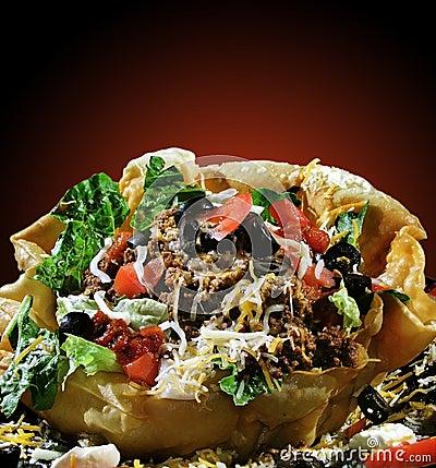 Taco раковины салата