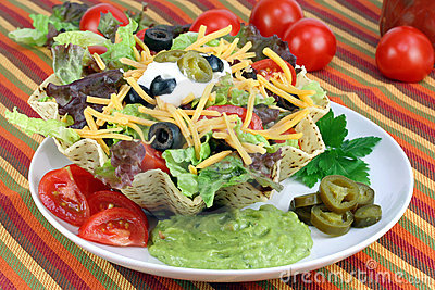 Taco Salad in Taco Bowl