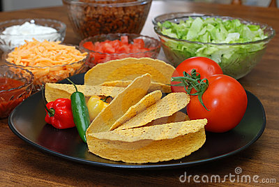 Taco Shells and Ingredients