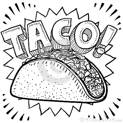 Free Taco Sketch Royalty Free Stock Photo - 28116385