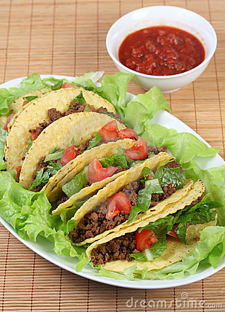 Tacos on plate vertical