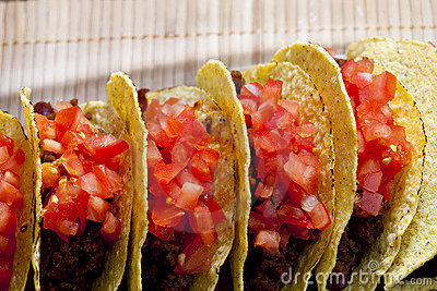 Tacos with tomatoes