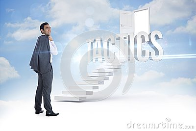 Tactics against steps leading to open door in the sky
