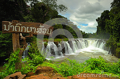 Tad Pha Souam waterfall, Laos.