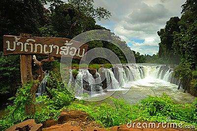 Tad Pha Souam waterfall, Laos.