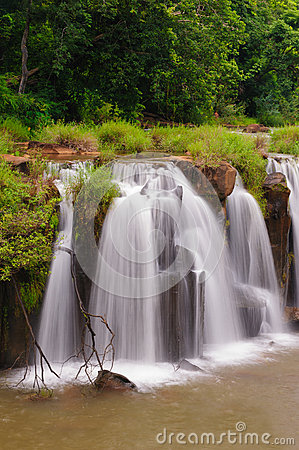 The Tad Pha Souam waterfall, Laos.