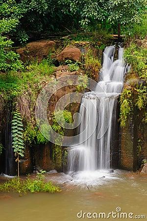 The Tad Pha Souam waterfall, Laos.