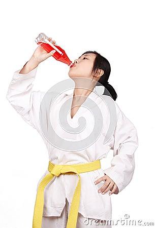 After taekwondo training