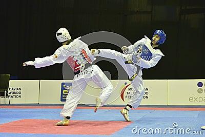 Taekwondo wtf tournament Editorial Stock Photo